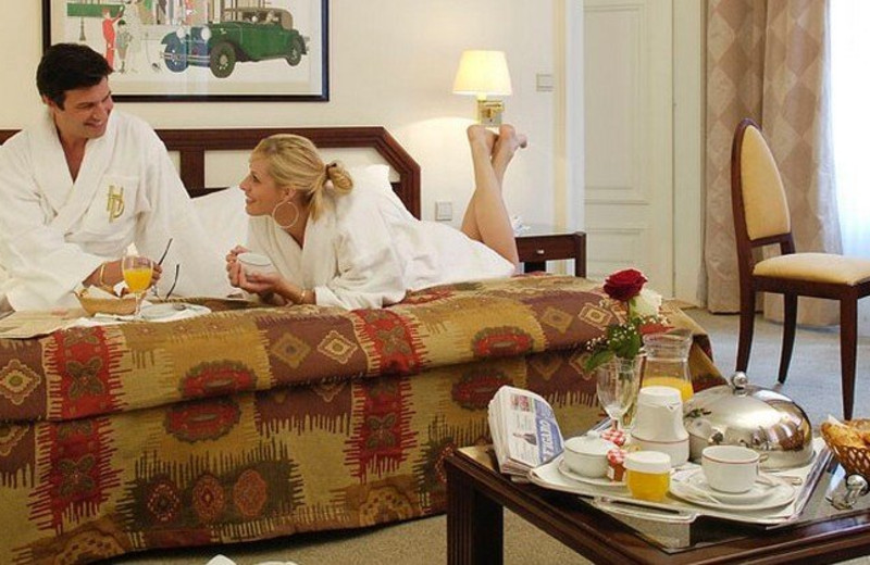 Guest room at Hotel du Parc.