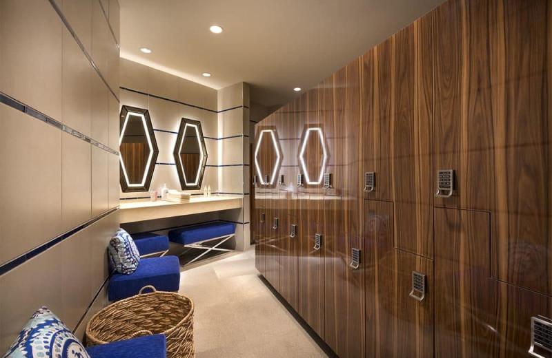 Spa locker room at Del Lago Resort & Casino.