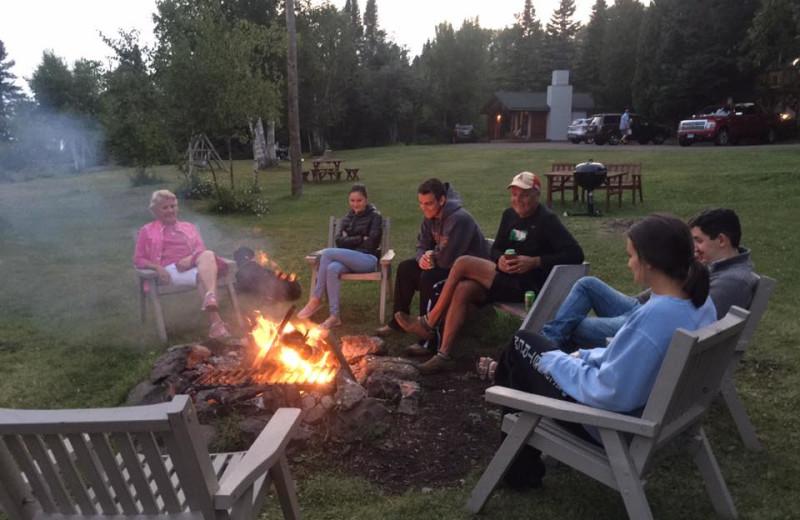 Bonfire at Thomsonite Beach Inn & Suites.