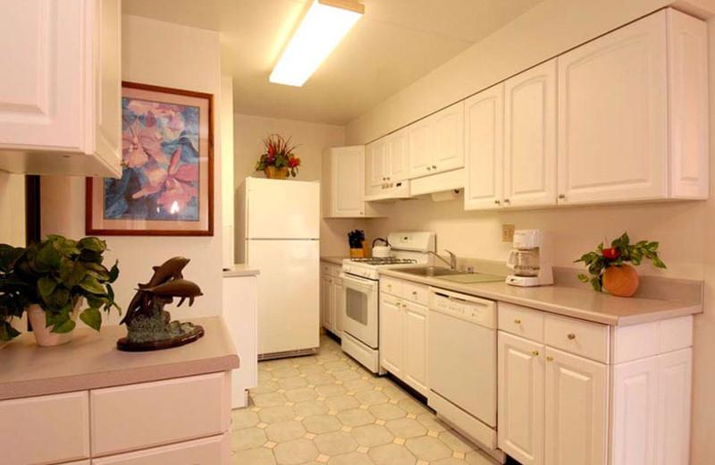 Vacation rental kitchen at Kihei Akahi.