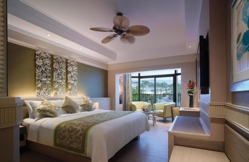 Guest room at Shangri-La's Rasa Sentosa Resort-Singapore.