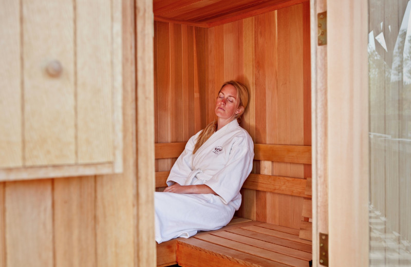 Spa sauna at Goosewing Ranch.