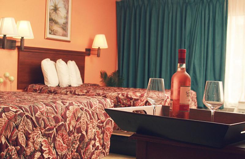 Guest bedroom at WindWater Hotel & Resort.
