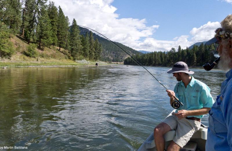 Fishing at Clark Fork River Lodge.