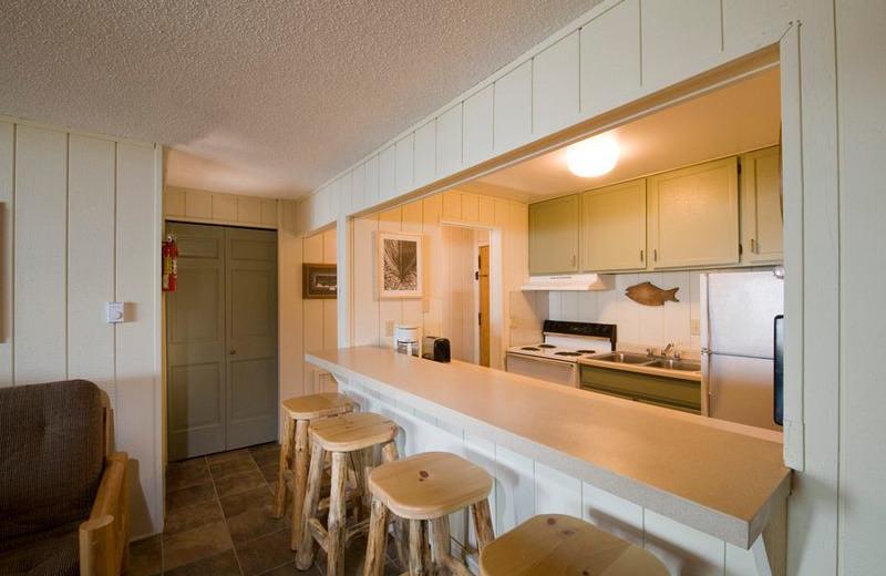Guest kitchen at Chateau LeVeaux.
