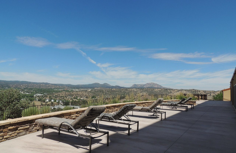 Sun chairs at Prescott Resort & Conference Center.