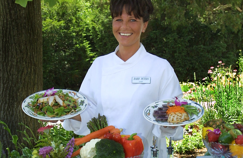 Healthy food prepared at Heartland Spa & Fitness Resort.