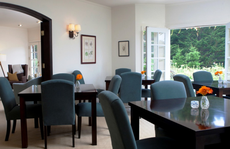 Dining room at Seal Cove Inn.