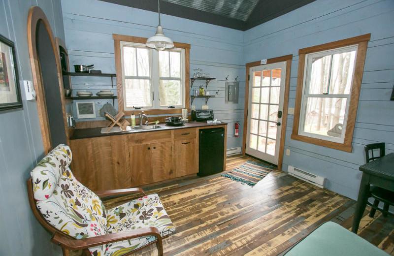 Tiny house kitchen at Blue Moon Rising.
