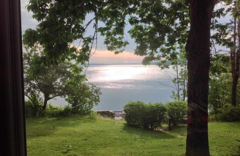 Rental view at Acadia Cottage Rentals.