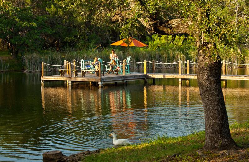 Fishing pier at The Retreat at Balcones Springs.