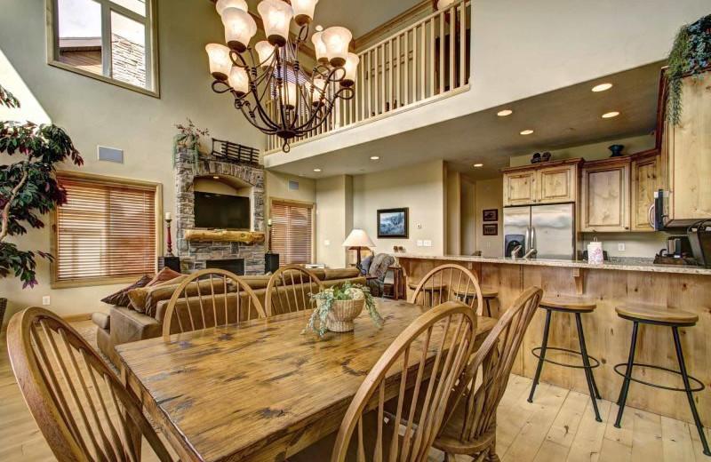 Rental interior at Lakeside Resort Properties.
