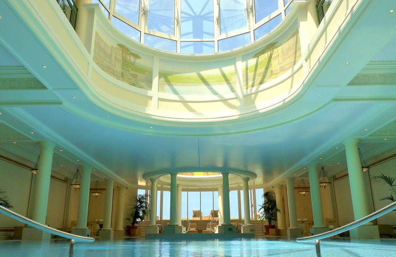 Indoor pool at Hotel du Palais.