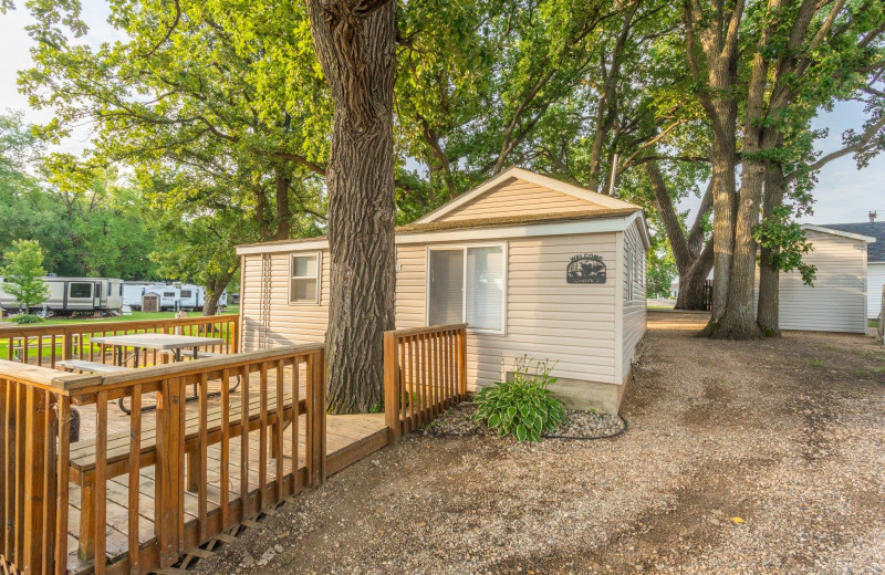 Cabin exterior at Barrett Lake Resort.