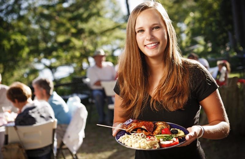 Dining at Chimney Corners Resort.