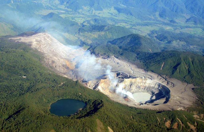 Poas Volcano near Poas Volcano Lodge.