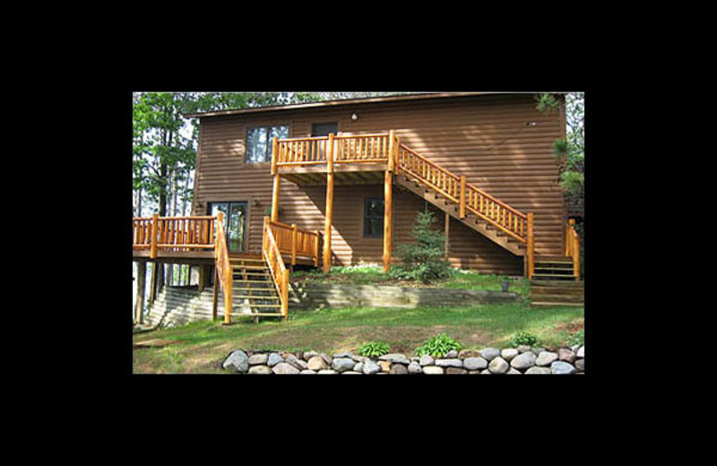 Cabin exterior at Lakeview Resort on Grindstone.
