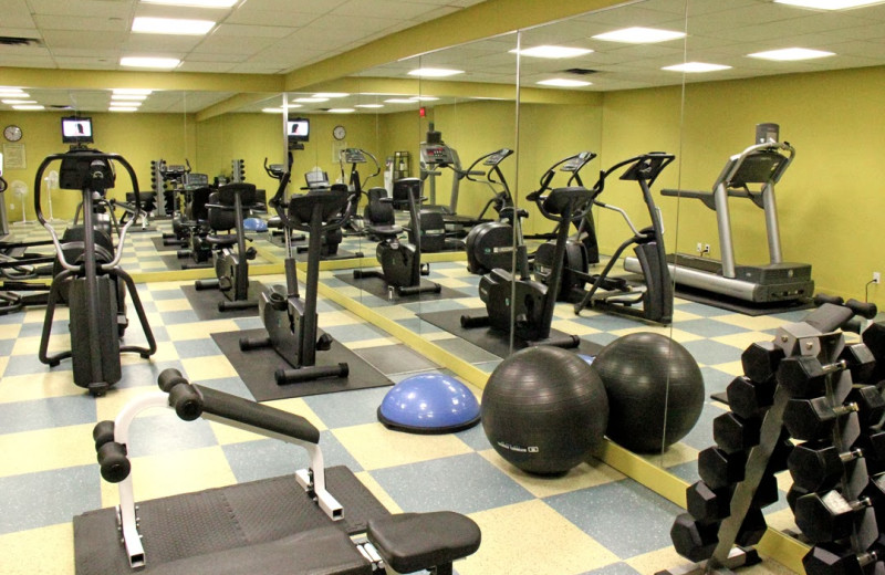 Fitness center at Crystal Lodge.