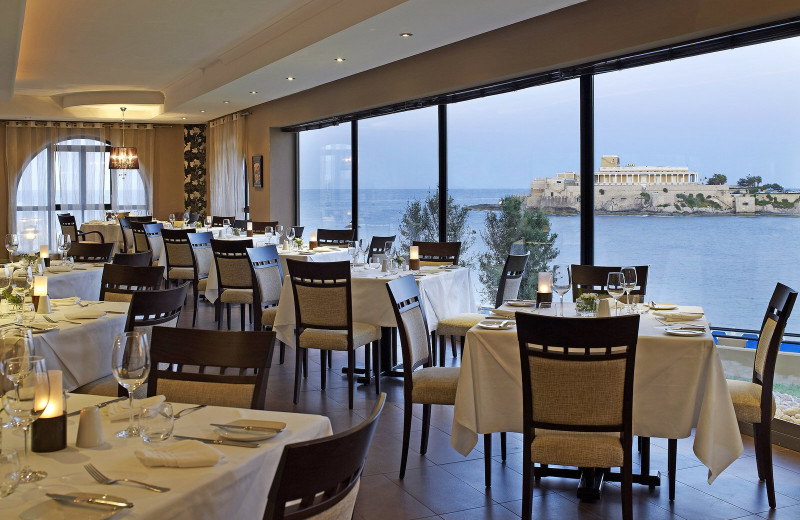Dining at Corinthia Marina Hotel.