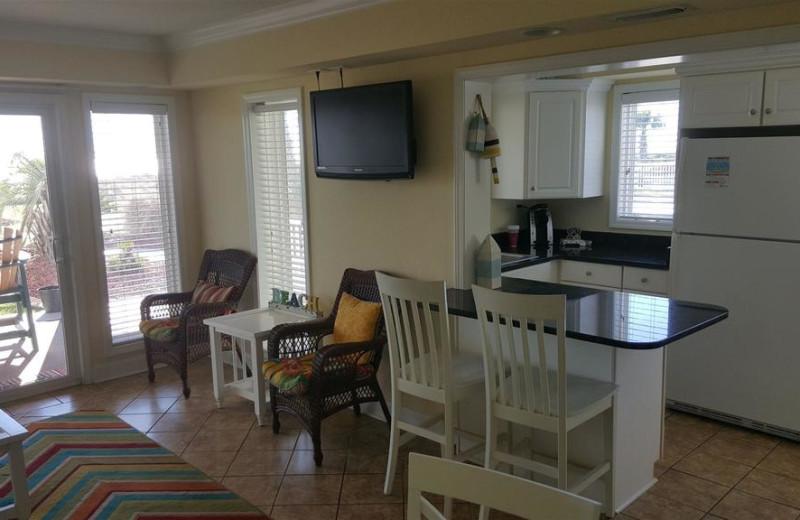 Guest kitchen at Islander Hotel & Resort.