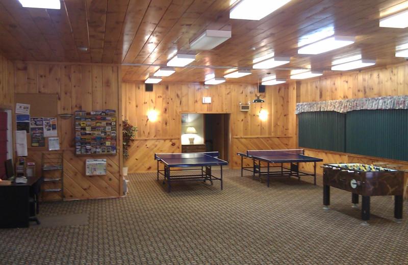 Game room at The Seasons Resort.