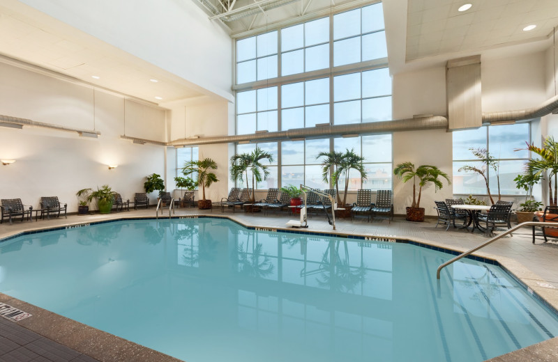 Indoor pool at Holiday Inn Suites Ocean City.