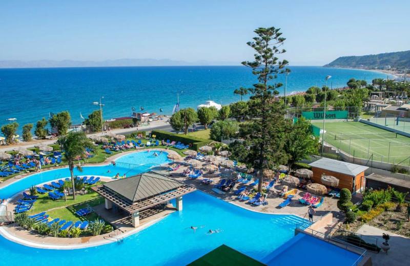 Outdoor pool at Sofitel Capsis Hotel Rhodes.