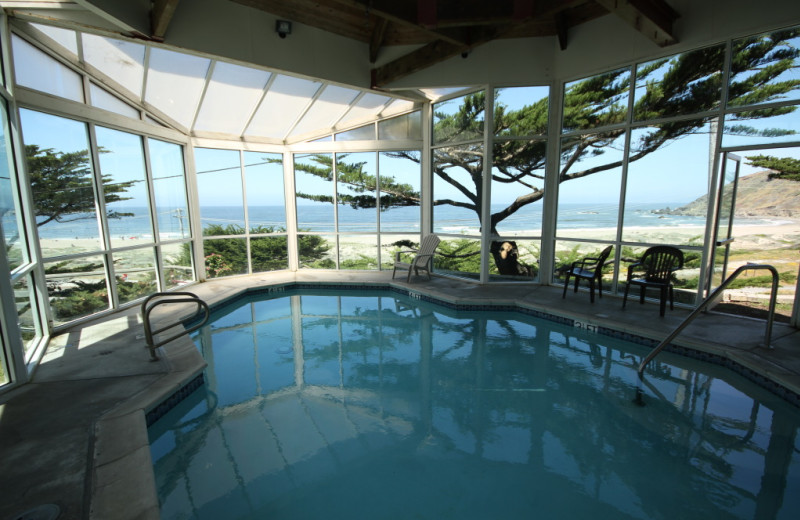 Indoor pool at Pacifica Beach Hotel.
