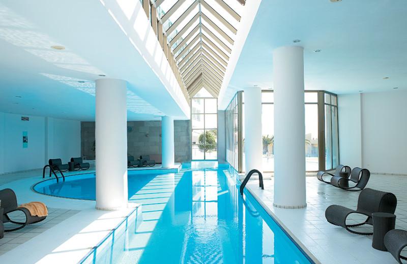 Indoor pool at Grecotel Rhodos Royal.