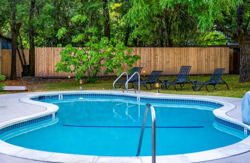 Outdoor pool at EuroSpa & Inn.