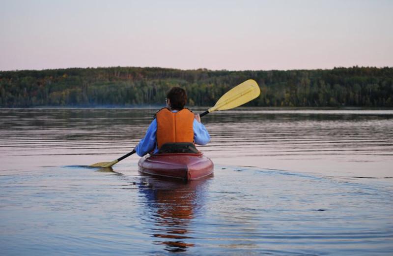 Kayaking at Trails End Resort.