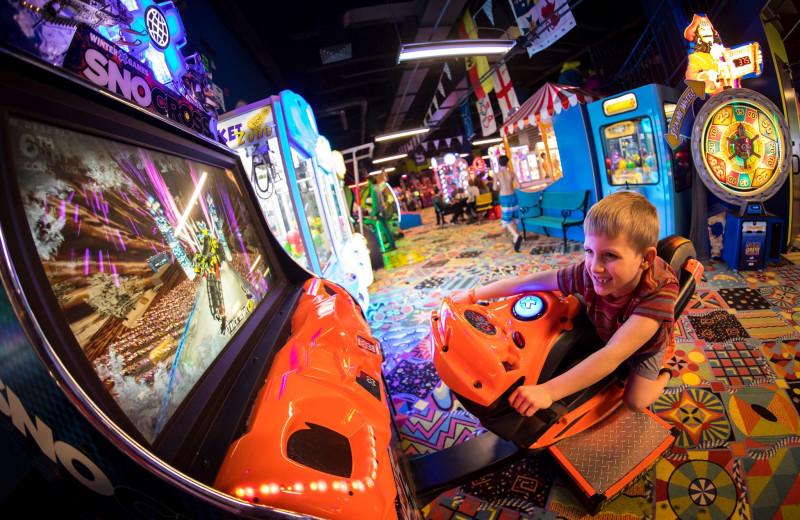 Arcade at Avalanche Bay Indoor Waterpark.