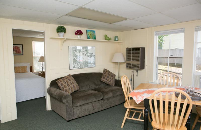 Cottage living room at Naswa Resort.