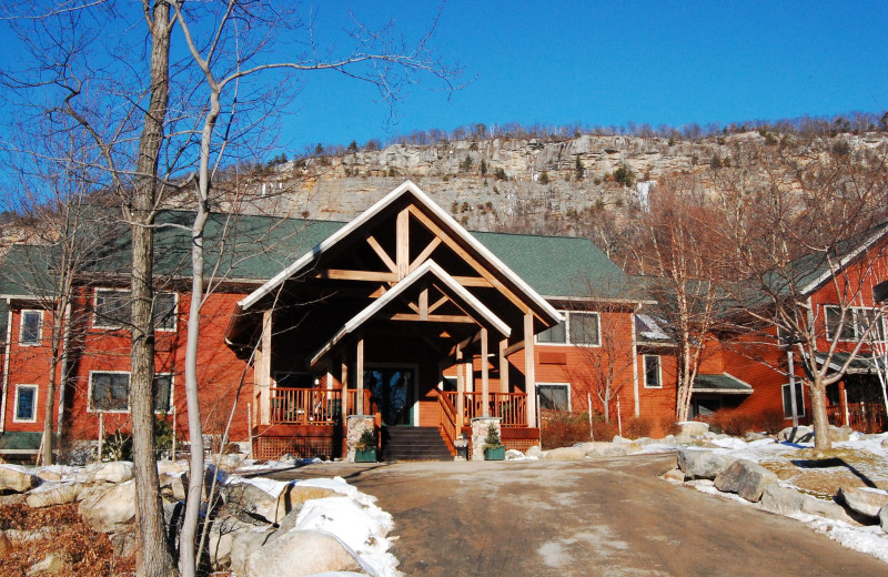 Exterior view of Minnewaska Lodge.