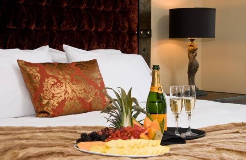 Room service at Bohemian Hotel Savannah Riverfront.