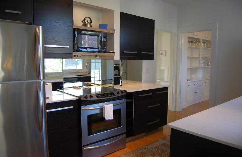 Guest kitchen at BCA Furnished Apartments.