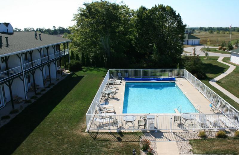 Outdoor pool at Birchwood Lodge.