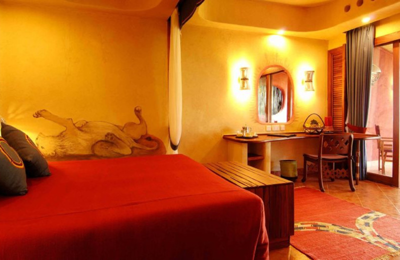 Guest room at Amboseli Serena.
