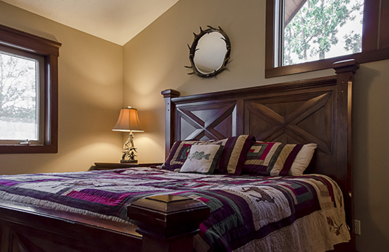 Rental bedroom at Branson Vacation Houses.