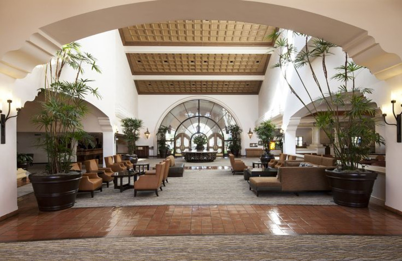 Lobby area at Fess Parker's Doubletree Resort.