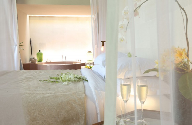 Guest room at The Purist Villas & Spa.