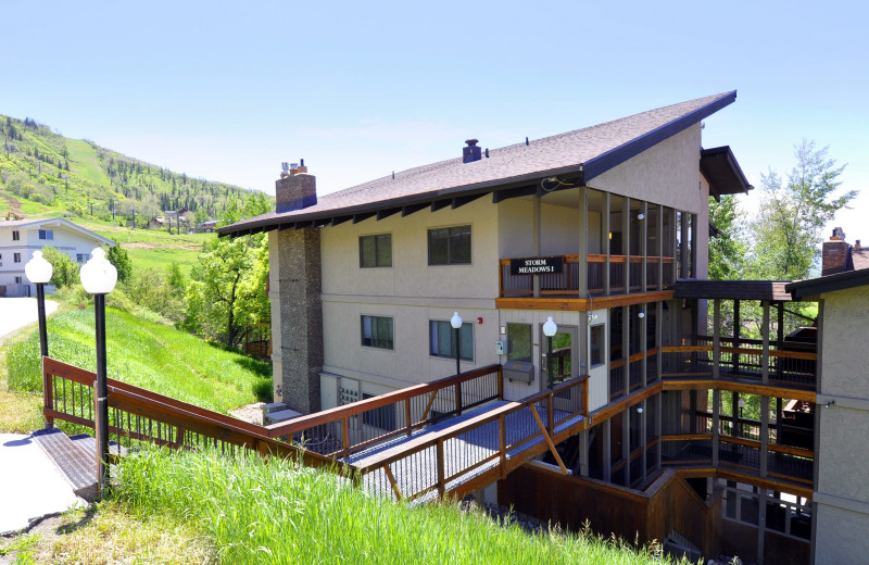 Rental exterior at Steamboat Lodging Properties.