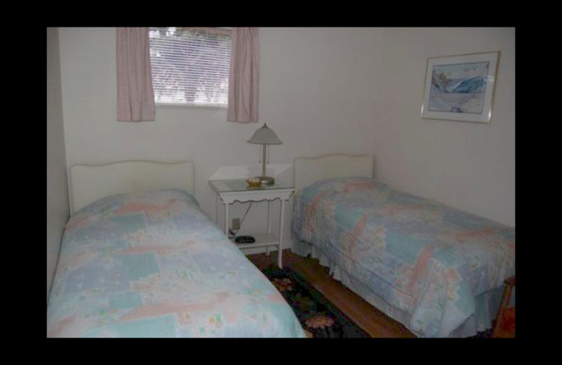 Guest room at Woodside Cottage Bed and Breakfast.