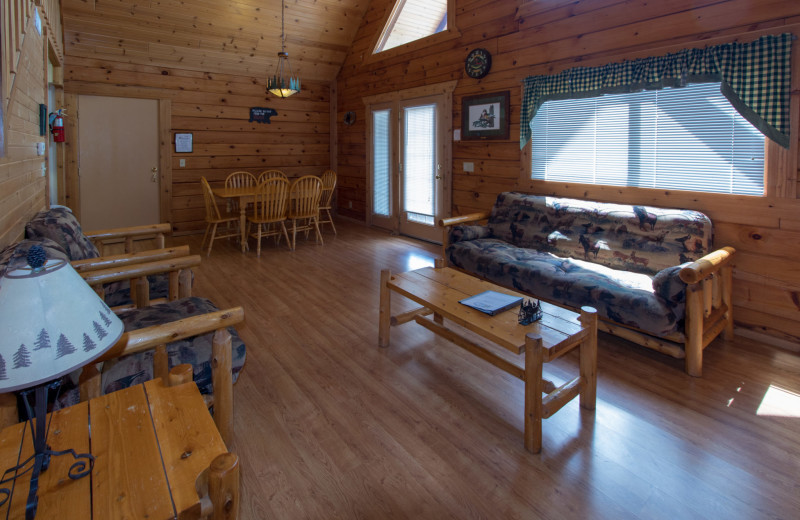 Guest living room at Warrens Lodging.