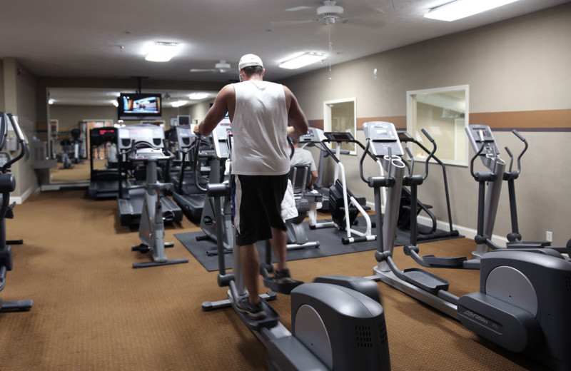 Fitness room at Berlin Hotel & Suites.
