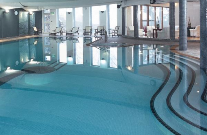 Indoor pool at Lakeside Hotel.