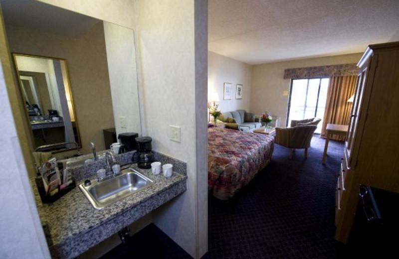 Suite interior at ParkShore Resort.