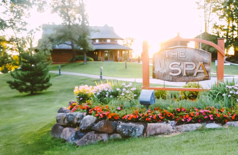 Spa at Madden's on Gull Lake.