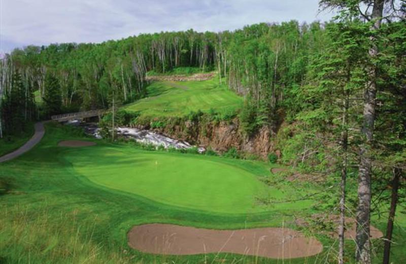 Golf course near The Mountain Inn at Lutsen.