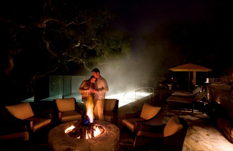 Fire Pits Overlooking the Pool at Carmel Valley Ranch